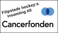 Filipstads hockeys insamling till Cancerfonden